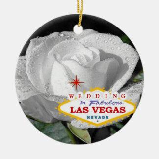 El casarse en el ornamento fabuloso de Las Vegas Adornos