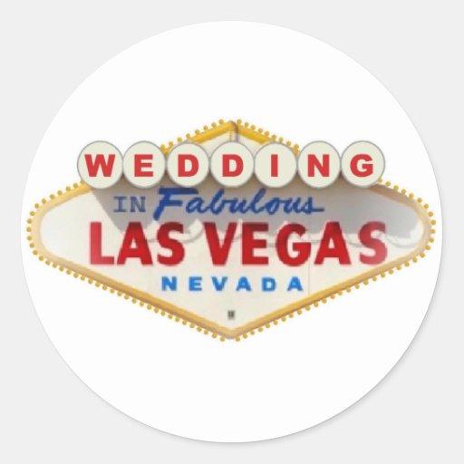 El CASARSE en el pegatina fabuloso de Las Vegas