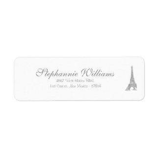 El casarse en etiqueta del remite de París Etiquetas De Remite
