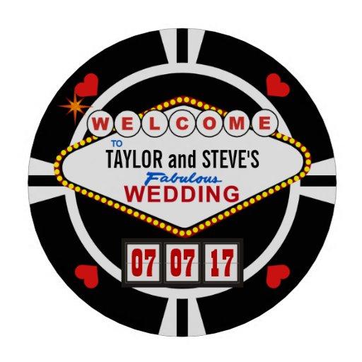 El casarse en fichas de póker del favor del casino
