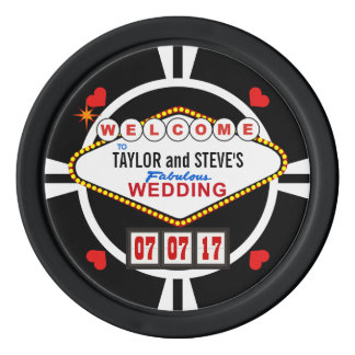 El casarse en fichas de póker del favor del casino fichas de póquer