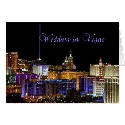 El casarse en la tarjeta de Vegas
