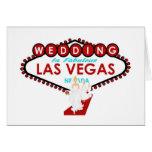 El casarse en Las Vegas con la tarjeta de las dama