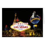 El casarse en Las Vegas fabuloso con la novia y el Tarjeton