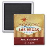 El casarse en Las Vegas fabuloso - rayas del vinta Imán De Frigorifico