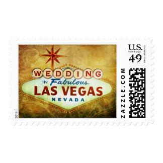 El casarse en Las Vegas fabuloso - vintage Franqueo
