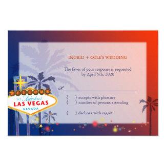 El casarse en Las Vegas Nevada RSVP (3.5x5) Comunicados