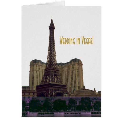¡El casarse en Vegas! Tarjeta de la invitación de