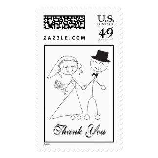 El casarse exhausto de los caracteres le agradece sello