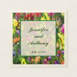El casarse floral de las impresiones servilleta de papel