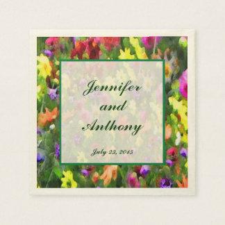 El casarse floral de las impresiones servilletas desechables