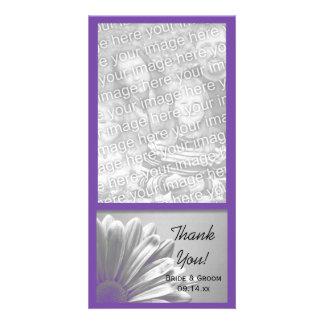 El casarse floral de los puntos culminantes le agr tarjetas fotográficas