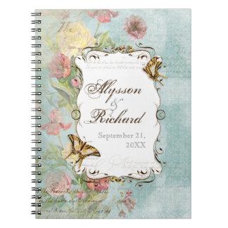 El casarse floral subió Peony de las flores del tu Libretas