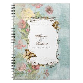 El casarse floral subió Peony de las flores del tu Libretas Espirales