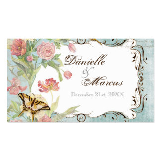 El casarse floral subió Peony de las flores del tu Tarjeta De Visita
