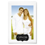 El casarse - frontera blanco y negro 4 x 6 impresiones fotográficas