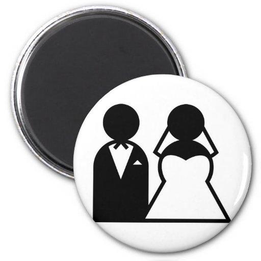 el casarse imanes de nevera