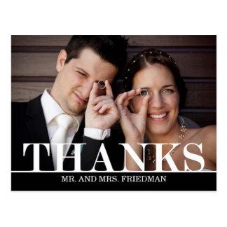 El casarse intrépido de las gracias le agradece ca tarjetas postales