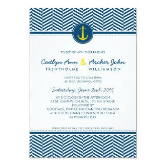 El CASARSE INVITA a amarillo náutico de la marina Invitacion Personalizada