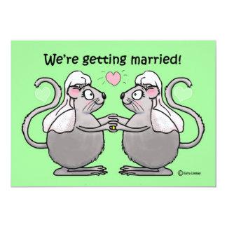 El casarse invita a pares lesbianos gay de la comunicados personalizados