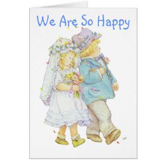 El casarse invita de los niños para la novia y el  tarjeta de felicitación