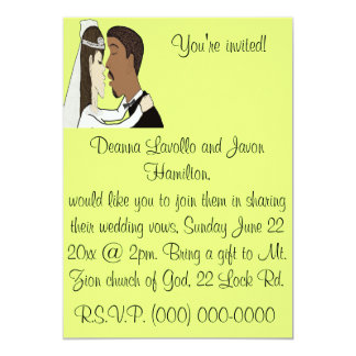 """El casarse invita invitación 5"""" x 7"""""""