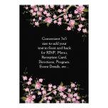 El casarse japonés rosado de las flores de cerezo invitaciones personales