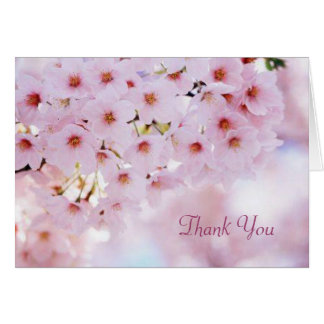 El casarse le agradece cardar - la flor de cerezo tarjeta pequeña