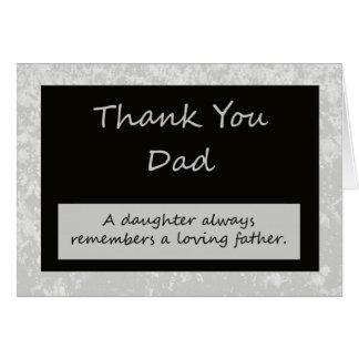El casarse le agradece cardar para parent al papá tarjetas
