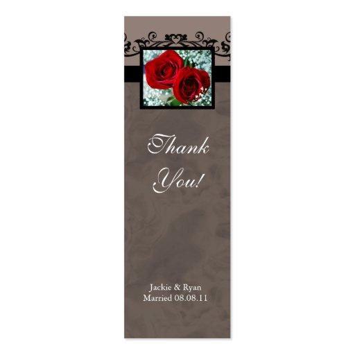 El casarse le agradece cardar rosas rojos del favo tarjetas de visita