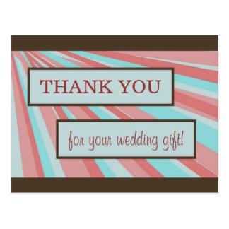 El casarse le agradece cardar - simple tarjetas postales