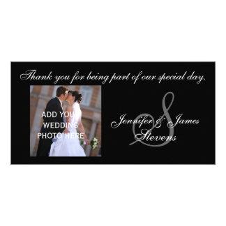 El casarse le agradece con la tarjeta de la foto d tarjeta personal con foto