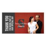 El casarse le agradece con las tarjetas de la foto plantilla para tarjeta de foto
