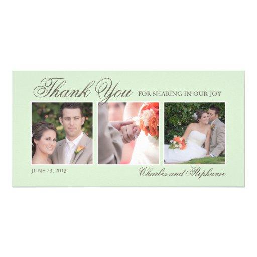 El casarse le agradece en tarjeta de la foto de la tarjeta personal