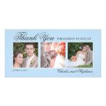 El casarse le agradece en tarjeta de la foto del a tarjetas fotograficas personalizadas
