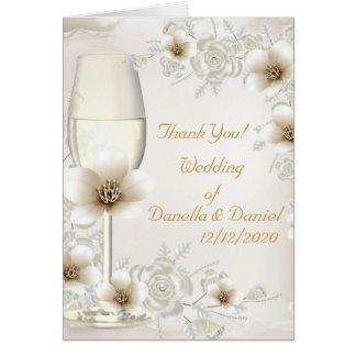 El casarse le agradece florece los rosas poner tarjeta pequeña