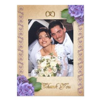 El casarse le agradece Hydrangea de la foto Invitaciones Personalizada