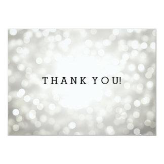 El casarse le agradece observar las luces de plata invitación 11,4 x 15,8 cm