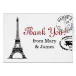 """El casarse """"le agradece"""" postal de París del vinta Felicitaciones"""