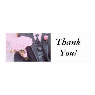 El casarse le agradece tarjetas personales