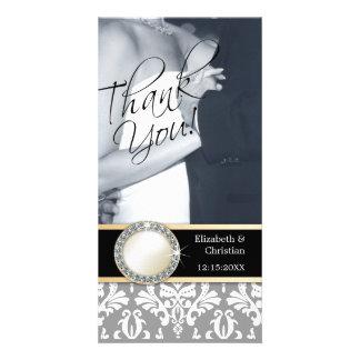 El casarse le agradece tarjeta de la foto tarjetas fotograficas personalizadas