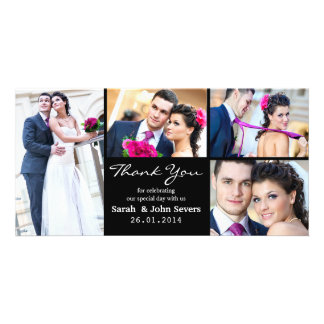 El casarse le agradece tarjeta de la foto tarjetas personales con fotos