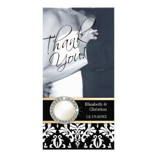 El casarse le agradece tarjeta de la foto tarjetas fotograficas