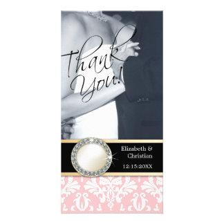 El casarse le agradece tarjeta de la foto tarjetas fotográficas
