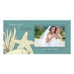 El casarse le agradece tarjeta de la foto - tema d tarjetas fotográficas personalizadas
