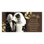 El casarse le agradece tarjeta de la foto - textur plantilla para tarjeta de foto