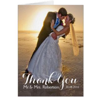 El casarse le agradece tarjeta de nota de la foto