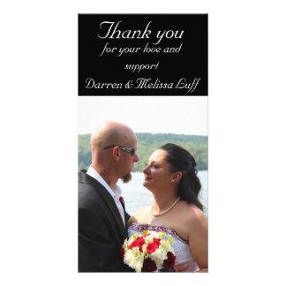 El casarse le agradece tarjeta fotografica personalizada