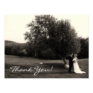 El casarse le agradece tarjetas postales