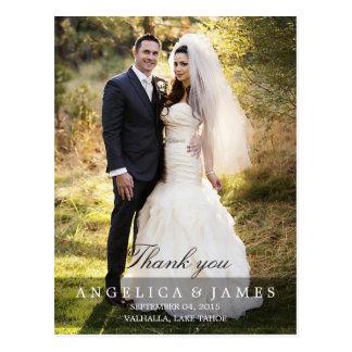 El casarse le agradece (vertical - la foto llena) postal